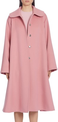 Dolce & Gabbana Belted Woolen A-Line Coat