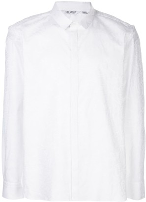 Neil Barrett Graffiti Jacquard Button-Up Shirt