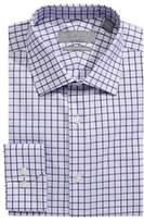 Perry Ellis Slim Fit Dobby Grid Dress Shirt
