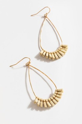 francesca's Mallory Tassel Teardrop Earrings - Ivory