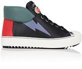 Fendi Women's Faces Leather Sneakers