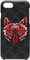 Gucci iPhone 8 Wolf Motif Phone Case