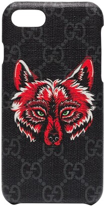Gucci iPhone 8 Wolf Motif Phone Case