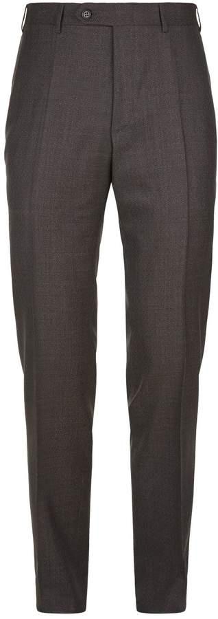 Canali Basketweave Slim Wool Trousers