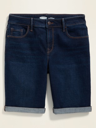 Old Navy High-Waisted Roll-Cuffed Bermuda Jean Shorts for Women -- 9-inch inseam