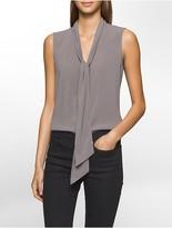 Calvin Klein Tie-Neck Sleeveless Top