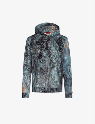 HUGO BOSS Graphic print cotton-jersey hoody