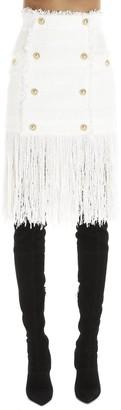 Balmain Fringed Skirt