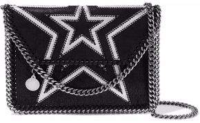 Stella McCartney Falabella Mini Embroidered Faux Brushed-leather Shoulder Bag