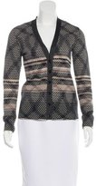 M Missoni Wool Long Sleeve Cardigan