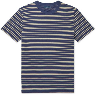 Frescobol Carioca Leblon Striped Cotton And Linen-Blend T-Shirt
