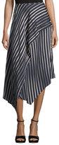 Diane von Furstenberg Striped Asymmetric Midi Skirt