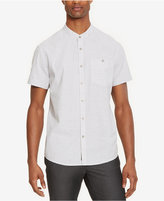 Kenneth Cole Reaction Men's Striped Band Collar Shirt