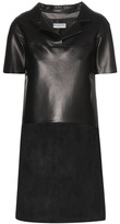 Balenciaga Leather And Suede Dress
