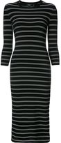 Theory striped fitted dress - women - Polyester/Viscose - L