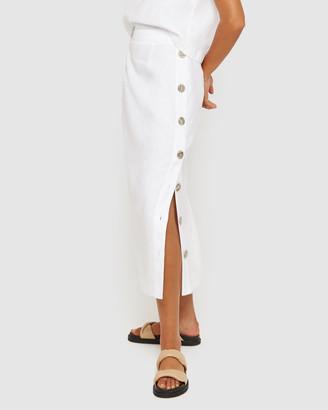 Jag Cassie Side Button Skirt