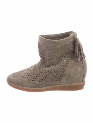 Isabel Marant Suede Tassel Accents Boots