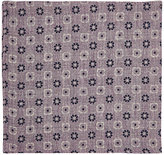 Fairfax Men's Reversible Linen-Cotton Compact Gauze Pocket Square-LIGHT PURPLE, NAVY, WHITE