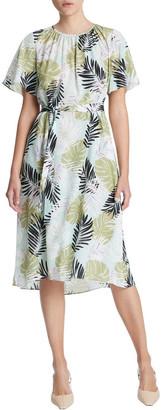 Marcs Leafy Views Silk Dress