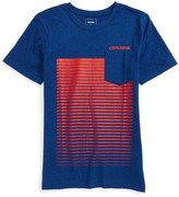 Converse Boy's Linear Ombre Pocket T-Shirt