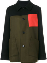 Marni oversized felt coat - women - Polyamide/Viscose/Virgin Wool - 42
