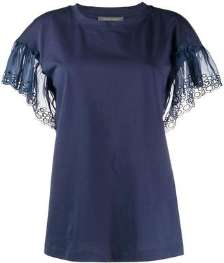 Alberta Ferretti ruffle sleeve T-shirt