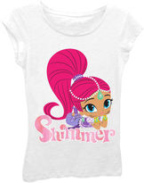 Asstd National Brand Shimmer and Shine Girls' Shimmer Posing Short Sleeve Graphic T-Shirt with Pink Foil
