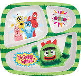 Nickelodeon Zak! Yo Gabba Gabba 3 Section Plate