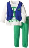 Moschino Kids Two-Piece Set/Vest Print Tee + Leggings (Infant)
