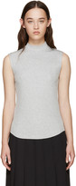 Nomia Grey Ribbed Sleeveless T-Shirt