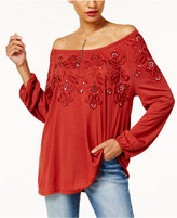 INC International Concepts Anna Sui Loves Off-The-Shoulder Peasant Top, Created for Macy's
