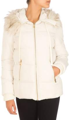 GUESS Nataly Faux Fur-Trim Quilted Puffer Jacket