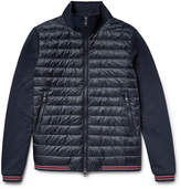 Moncler Loopback Cotton-Jersey and Quilted Shell Down Bomber Jacket
