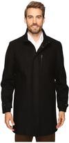Perry Ellis Wool Zip Front City Coat