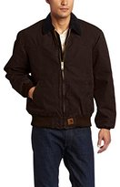 Carhartt Men's Quilted Flannel Lined Sandstone Santa Fe Jacket