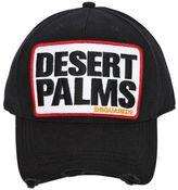 DSQUARED2 Desert Palms Cotton Canvas Baseball Hat