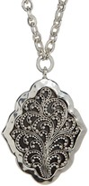 Lois Hill Sterling Silver Medium Handmade Granulated Alhambra Pendant Necklace