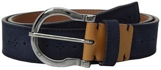 Stacy Adams Richmond 34mm Genuine Leather Belt (Navy) Men's Belts