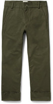 Simon Miller Frayed Cotton-twill Trousers