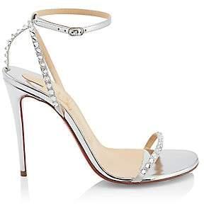 Christian Louboutin Women's So You Crystal Spike Metallic Sandals