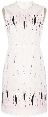 Giambattista Valli Textured Floral Print Dress