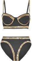 Norma Kamali Studded Bikini - Black