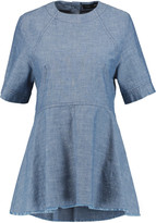 Proenza Schouler Frayed chambray top