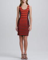 Halston Sleeveless Striped Tank Dress