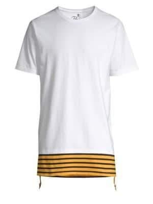 PRPS Men's Elongated Short-Sleeve Tee - White - Size XXXL