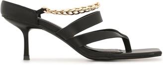 Manning Cartell Australia Chain-Strap Leather Sandals