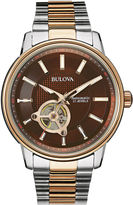 Bulova Mens Two-Tone Stainless Steel Automatic Watch 98A140