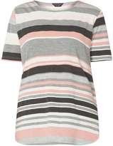 Dorothy Perkins Pink and grey stripe tee