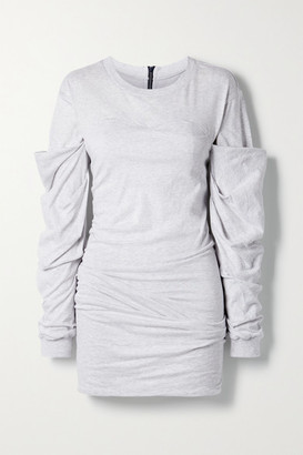 RtA Indya Ruched Cotton-jersey Mini Dress