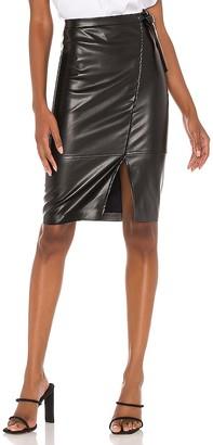 Blank NYC Vegan Leather Midi Skirt